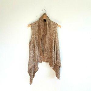 Gap Sleeveless Sweater Vest Small Taupe Wool